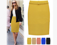 Free Shipping Summer new arrival  Women OL skirt, High waist slim hip skirt  Big size S M L XL XXL