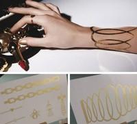 Fashion 24K Golden Tattoos Waterproof tattoo stickers Temporary Tattoo