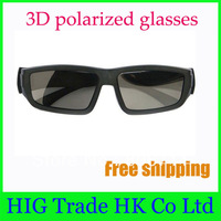 Free shipping 4pcs/Lot 3D polarized glasses for LG 3D TV