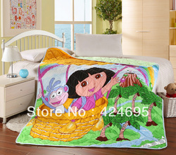 Home Textile,Lesser children cartoon pattern summer air patchwork quilts,the blanket bedding,Throw,150*200CM,Free shipping(China (Mainland))