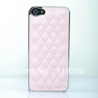 Deluxe Luxury Leather Chrome Case Cover for Apple iPhone 5 5G 5TH Color Pink