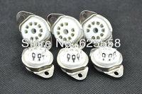 10PCS 9pin BOTTOM chassis mount tube socket for 12AX7,ECC82,EL84,6DJ8,5670