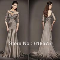 2013 Mermaid Floor Length Groom Mother of the Bride Pageant Dresses with 3/4 Sleeves 78590