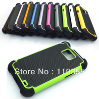 10pc/lot Dual Layer Rugged Armor Hybrid Hard Case Cover for Samsung Galaxy S2 II i9100