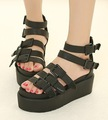 Wholesale,Peep Toe Buckle Strap #363 Wedge High Heel Platform Sandals,US 5-8.5,Womens/Ladies Shoes
