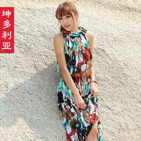 FREE SHIPPING ! Twinset beach dress bohemia dress full 2013 one-piece dress summer dress