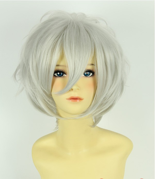 Cool silvery bobo short hair fluffy pear high temperature wire cosplay wig(China (Mainland))