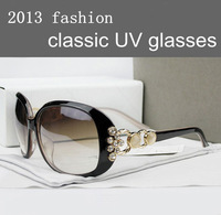 2013 Fashion classic brand glasses women's UV Sunglasses With Original Pack Free Shipping, GA005