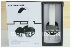 Great Discount Sol Republic Tracks headphone On-Ear remote control talk Mic HD headset in black/white/red(China (Mainland))