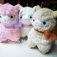 Wholesale Japanese Arpakasso amuse Genuine  Sheep plush Toy 3 colors 18cm high Doll 20pcs/Lot Free Shipping