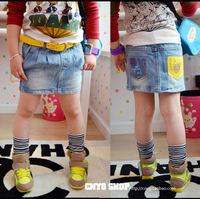 Children's clothing female child summer 2013 child baby denim skirt waist skirt bust skirt short skirt
