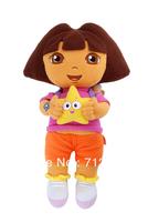 free shipping Children soft toy plush doll girl Dora  cloth animation genuine hold star dora games
