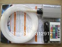 200pcs 0.75mm*2m PMMA optical fiber kit with 6W RGB light engine,RF 24key remote;model:FRP-04