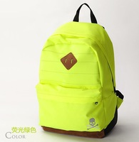 5 colors New Cute fluorescent light backpack Nylon schoolbag