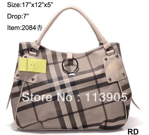 British style plaid bag pillow pack handbag classic handbag 2 colors free shipping(China (Mainland))