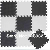 WM018 Black and white Baby Floor Mat Children's Environmental Tasteless Eva Foam Mat, 9 pcs/pack