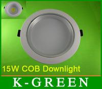 DHL FEDEX UPS TNT EMS free shipping  high quality 15W COB led downlight
