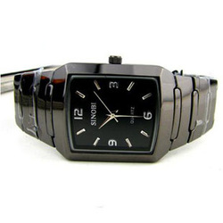 Watch quartz watch square plate fashion table tungsten steel spermatagonial lovers table 913(China (Mainland))