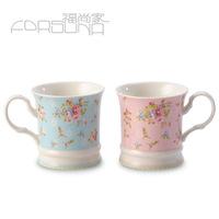 Rose fashion sweet rustic customize ceramic mug cup