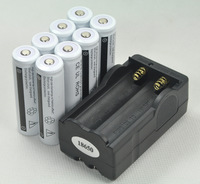 8pcs GOOD 18650 battery 5000MAH and 18650 charger for LED Flashlight Torch liion