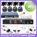 8ch cctv system security outdoor infrared camera 8 channel h.264 stand alone dvr kit 22