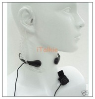 Throat earphone Mic with PTT button for TK Port walkie talkie/two way radio UV-5R/UV-3R+Plus/TG-UV2 ZT-V180 UV-B5 UV-B6 UV-5RA