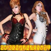 Corset vest top ds costume dance performance wear modern dance clothes  club dresses