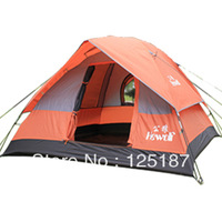 Outdoors Double Layer Camping Tents 3-4people Tent Size(cm):200*200*135
