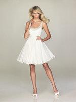 Best Buying 2013 Strappy Beaded Chiffon A-line Short Mini White Graduation Dresses