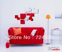 Free shipping!Sofa background wall tv wall 3 D mirror wall stickers mirror wall covering