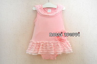 Free shipping Wholesale baby girls clothes summer 2013 newborn clothes for girs girls pink minnie