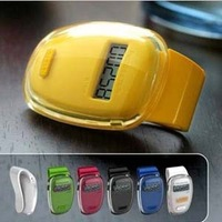 LCD display step sports pedometer single function electronic pedometer walking distance counter pedometer