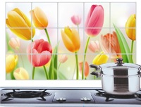 Free shipping High-temperature oil with aluminum foil sticker - kitchen - tulip petals