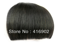 high quality 1b# natural black Flat Bang Clip In On ,100%  Remy Human Hair  Bangs / Fringe / Extensions wig front bangs