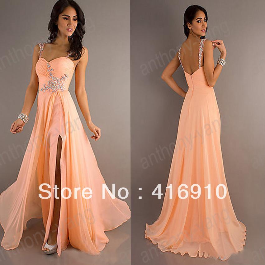 Prom Dresses 2013 Long Long Peach Prom Dress