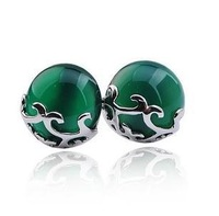 2013 New arrival high quality cat eye gem 925 sterling silver ladies`stud earrings jewelry wholesale price 1pair/lot