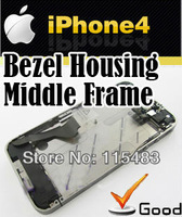 middle frame full parts assembly bezel housing chassis cell phone Custom parts supplier for iphone 4 black mid frame