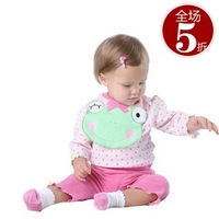 Baby2 children's summer clothing chiddler set baby t-shirt trousers bib ba4711450