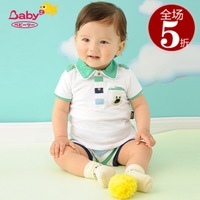 2012 summer children's clothing male baby set turn-down collar shirt t-shirt shorts yxb392025