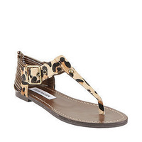 Women's shoes leopard print horsehair women's flat low-heeled sandals flip gladiator style