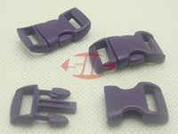 "(100pcs, PURPLE) 3/8"" 10mm Webbing Side Release Plastic Contoured/ Curved Buckles for 550 Paracord Bracelets Bag Pet Parts"