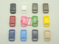 "(1000pcs, Mixed Color) 3/8"" 10mm Webbing Side Release Plastic Contoured/ Curved Buckles for 550 Paracord Bracelets Bag Pet Parts"