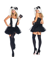 black fur sexy cosplay Halloween thick plush cat girl panda installed wolf Christmas party uniforms DS stage costumes Free Ship