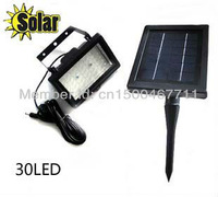 Solar lawn light+100 % solar power+30 super bright LEDS+ CE approved+3 color option