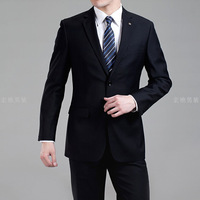 Men's suits Korean version of the suit Slim married overalls genuine elderly head black wool suit men's suits