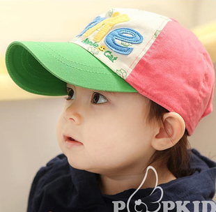 Child baseball cap male cap tennis ball cap spring and summer hat sunbonnet smile sun hat