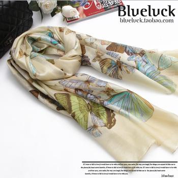 Butterfly dancing silk scarf silk scarf 5 a