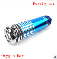 Auto Car Fresh Air Purifier Oxygen Bar Ionizer mini blue free shipping