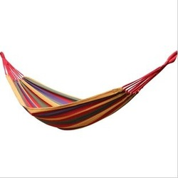 Hammock outdoor camping swing thickening canvas single hammock casual double bearing(China (Mainland))