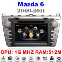 Car DVD For Mazda 6 Mazda6 Car pc Auto Multimedia GPS 1G CPU 1080P 3G Host HD Screen S100 DVR Audio Video Player EMS DHL